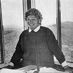 Dorothy Dellinger. Picture appeared in the Lenoir News-Topic on November 5, 1987.